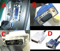 デュアルモニター用として「BenQ G615HDPL」を購入、自分のPCに接続してみた所 「シグナルが検出されませんでした」と表示された後黒い画面になってしまい、PC側でも認識できません。 画像の「A」がPC側、「B」がモニター側、 「C」がモニターとPC接続に使用している変換プラグ、 変換プラグがいけないのかと、「D」を購入しようかと思っているのですが問題ないでしょうか? これでは...