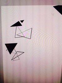 クリスタっていう絵かきソフトなんですが、ブラシでシンプルな三角ブラシをつかってみたのですが色がつきません‼︎どうやったら色つきますか?