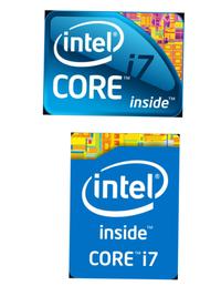 同じインテルcorei7なのですが、ステッカーのデザインが違いますよね? この上と下の違いは何ですか?  (画像編集適当ですみません)
