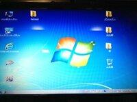 Windows 7 のデバイスマネージャーの中のネットワークアダプターからドライブを削除してしまいました。 すると、PCの画面の比率がおかしくなってしまいました。(画像あり) どうすれば直りますか?