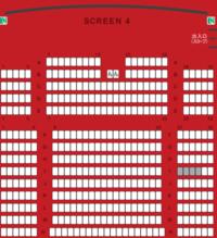 字幕映画を見るときのおすすめ席はどこですか?   添付画像のような映画館のレイトショーで、 トゥモローランド(字幕版・DOLBY-ATMOS)を見ます。  どの席が良いと思いますか?  1人な のでF席の真ん中...