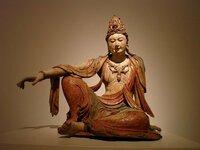 美しい観世音菩薩像。この仏像は、どこの国のいつの時代に造られたのか知りたいのです。似た観音像でアメリカのNelson Atkins Museumで展示されている仏像があります。 中国なのか台湾、朝鮮か、この仏像も同じ国のものかと思います。 よろしくお願いします。