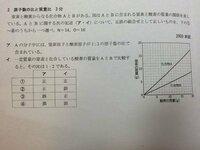 科学基礎 大学受験 2003 センター この問題の解き方を教えてください。 答えは③です。 ノートを見たのですがよくわかりませんでした。