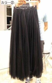 マキシ丈のチュールスカート(黒)にどんな服を合わせようか悩んでます。 女の子らしい可愛らしい感じではなく、割とハードなカッコイイ感じで着たいので、アドバイスお願いします!