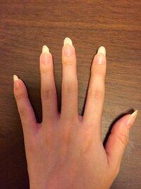 (率直な意見を下さい)女性の爪の長さについて  ネイルをしていない女性の爪でこの長さは男性から見ると正直どうなんでしょうか?  気にならないのか、汚いと思われるか、率直に教えて下さい m(_ _)m