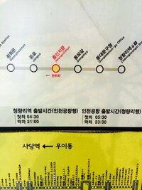 ハングル、韓国語できる方助けてください。写真の04:30.21:00/05:30.23:30のところは何て書いてありますか?