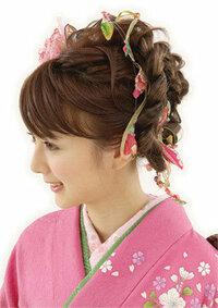 成人式の髪飾りについてです!  写真の様な和柄の紐リボン?は どういう所に売っていますでしょうか?  髪の編み込みと一緒に編めるような リボンになっています!  通販サイトでもいい ので 教えて頂け...