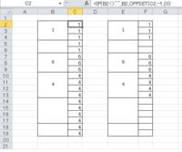 EXCEL 結合されたセルを関数で参照する方法についてなのですが、 結合されたセルの値を、列に同値を表示、結合セルに値がなければ、空欄(右図)というような方法をネットでいろいろ検索してたのですが、なかなか理想とする近いものがなかったので、質問させて頂きました。 皆さまお知恵を貸していただけませんでしょうか?宜しくお願いします。