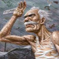 何で老人って台風が来ると用水路行くだすか?