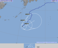 気象庁の台風10号進路予想の5日間拡大は、なぜ3日分しか出ないの。
