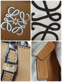 ロエベのバッグをフリマで購入しました。 未使用品にしては安すぎる価格だったので、発送して頂く前に正規品かどうか聞いてみると正規品とおっしゃっていたのですが、届いた物を見たところ、素 人から見ても印刷や縫製が雑で、偽物だろうと疑っています。 私は今まであまりブランド物を持ったことが無く、ロエベの商品はこちらが初めてなのですが、本物はこんな感じではないですよね? 全体的に縫製が雑で、特に気...