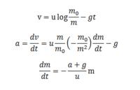 合成関数の微分  物理で微分方程式を作るときの変形が分かりません v(t),m(t)とします  このときなぜ logを合成関数の微分で計算しているのに 更にdm/dtまで掛けているのですか?