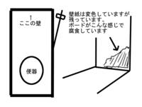 去年の梅雨時~夏に掛けての湿気で、風呂に隣接するトイレの壁(防火ボード)が、カビで腐食を起こしついに崩れました。 崩れたのは一部の場所。 4方の壁の1つで、面積にすると横700mm×縦400mmほどです。 こ...