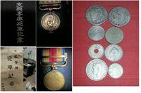 支那事変従軍記章 大掃除をして倉庫から出てきたのですが、写真の従軍記章、古いコインは売れるのでしょうか?どのくらいの価値があるのでしょうか?