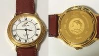 この時計の原価を教えてください! ENICARの時計です! 部屋の片付けをしていたらたまたまでてきて気になったので! 時計の入っていた袋(?)に入っていたタグみたいなのと説明書的なのに「EN ICAR SWISS」と書いてあるので多分スイス製かなって思います! 時計についてものすごく疎いのでふわっとした情報しかなくてすみません!