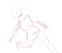 走っているポーズです。おかしいと思うところを教えてください。 走っている構図で女子の絵を描こうと思います。 画像のポーズにおかしいと思うところはありますか。 無ければこのまま絵を進めてもよいと思います...