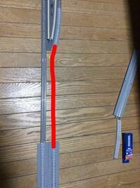tomixのnゲージレールについて下記の画像の赤い線の部分のようにつなげるにはどのような種類のレールが合うでしょうか?わかる方教えてください、お願いしますm(_ _)m