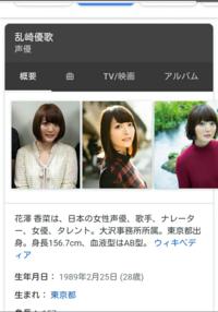 ざーさん(花澤香菜)さんの本名は乱崎優歌 なのですか?