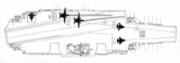 旧ソ連のウリヤノフスク級空母、Su-33やMiG-29戦闘機をスキージャンプで飛ばして、早期警戒機のYak-44をカタパルトで打ち出す予定だったらしいです。 スキージャンプ要らなくないですか?