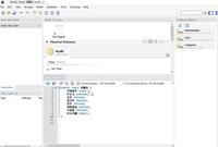 SQL初学者です。(独学です) MySQL Workbenchをインストゥールしたばかりです。 Workbenchはテーブルの状態を確認するために導入しました。 SQLの勉強中であるために、操作はSQL文を投げかけて行っているところです。  まずはテーブルを作ろうと思い、添付のようなSQL文を作成いたしました。 しかし、このSQL文を実行し、テーブルを作成するやり方が分かりません。...