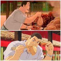 アニメ 憧れる食事シーンは? (例)ワンピースのルフィ、ジブリ映画など。