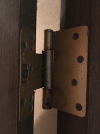 ソファが入らないのでドアを外したいのですが、簡単に外せますか? 蝶番写真も添付します。 どあは大建工業製です。