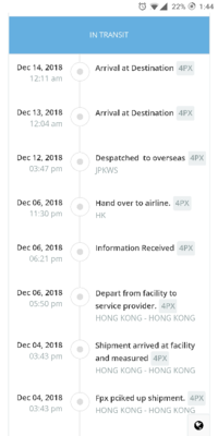 海外通販について GearBestでブラックフライデーのセールの日、スマホを買いました。  今までも何度か買ったことはあるのですが、今回の追跡が初めて見るタイプなので、質問させて頂きました。   Arrival at dest...