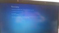パソコンWindows7で画面をつけたら青い画面で英語がでました。調べて色々やってみたのですがF8をおしたらピッピと音がなるだけでなにもかわりません。こうなる前にジーと音がしていたのですが関係あるのでしょうか?