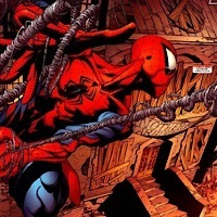 アメコミ初心者です。このスパイダーマンのアメコミアートを描いたアーティストの名前を教えてください。スパイダーウエブの描き方に惹かれてしまい画集など欲しくなってしまいました。よろしく お願いします。