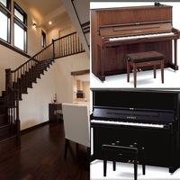 木目のピアノか黒いピアノか迷ってます。 お部屋は画像のようなイメージの部屋です。 床材はローズウッドで濃淡がはっきりしていて濃いめです。 木目ピアノをはウォールナットです。 少し木 の感じが合わないような気がしますが、黒だと暗くなる気もして迷っています。 どちらが良い雰囲気になると思われますか?