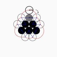 次の様に六つ並んだ半径1㎝黒丸の周りを、半径1㎝の白丸が回るとき、白丸の中心が動いた距離に直径の2cmを掛けたら白丸の動いた面積は出ますか。 つまり、この場合はセンターラインの公式(パップスギュルダンの定理)は使えますか。 できない場合、センターラインの公式が使えない場合を教えてください。