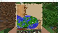 森林探検家の地図を村人から入手したもののまず家のマークがない。 とりあえず地図の示す場所へ行ってみたところそもそも生成されている地形が地図とどうも異なる様子 (もうマッピングされてますが左下は海だっ...