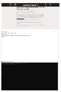 マイクラ(java)でサーバーを立てようと思い公式サイトから1.13.2のサーバーをダウンロードしたのですが起動しても他のファイルなどが生成されないので  @echo off java -Xms1024M -Xmx1024M -jar minecraft_se...
