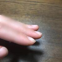 この爪って平たい爪ですが??