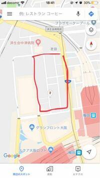 再開発とかに詳しい人お願いします。 画像の大阪駅北側の赤で囲った部分。ここは、いずれ再開発されると思いますか?  駅前の一等地なのに建物がパッとしないと思いました。左には大規模再開発されたグランフロン...