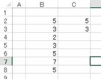 エクセル2013の質問をよろしくお願いします   重複した数字すべてをピックアップしたいのです  ※2ヶ以上もあり得ますCの並びは特に決まりはありません   よろしくお願いします