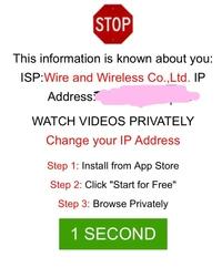ウェブサイトを見ていたら、 いきなりこんな画面になりました  あなたのipアドレスが知られた? なんて書いてあるのかわからないけど、 インストールさせる詐欺なんでしょうか?
