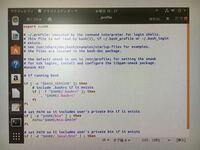 virtualboxでubuntu環境でコマンドラインの勉強をしているのですが、テキストエディタから.profileにexportで環境変数を追記したのですが $ echo $xで 反映されていません。 原因がわかる方がいらっしゃったらご...