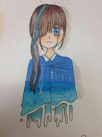 日々イラストを描いている小学6年生の女子です。イラストの評価をお願いします。 ①100点満点中何点か。 ②アドバイス。 このふたつをお願い致します!