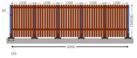 DIYフェンス 支柱の強度について教えて下さい  コンクリート基礎にラティスフェンス固定金具を用いて、ウッドフェンスの支柱を立てました  固定金具はアンカーボルトで固定するものです↓ h ttp://homeuse.pr...