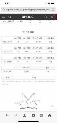 韓国の通販で下着のサイズの表示の仕方がわかりません、、上から日本で言うと(A65など)何でしょうか、、?