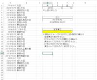 エクセルWORK関数、土日、祝日を除く翌営業日の算出方法について。 添付のような資料で日付に対して翌営業日を算出したいのですがD12の 関数はどのような式が最適でしょうか。 D2,、E2、F2は手打ちです。 D7は、D2,、E2、F2の情報をDATE関数にて算出しています。 算出したD7の日付が土日又は、A列の祝日一覧の場合、その翌日がD12に表示させたいのです。 D7が平日ならD...