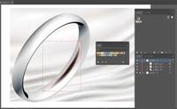 イラストレーター ペンツール、メッシュツールで影を付ける方法。  指輪を作成しています。 ペンツールで影の形をつくり、メッシュツールでポイントを作って内側を黒色にするのですが、メッシュツールでポイン...