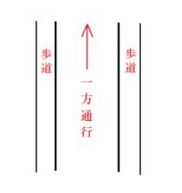 一方通行の道で両側に歩道がある場合、車と同じ方向なら自転車はどっちを通ってもいいのですか? それとも、右側を車と反対方向へ行ってもいいのでしょうか?