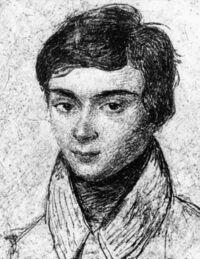 以下のガロアの肖像画は誰が描いてのかわかっているんでしょうか? ちょっと濃く怖い肖像画は弟アルフレッドが描いたことがわかっているそうですけれど