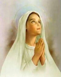 カトリックの方にお聞きします。 このご絵は聖母マリアでしょうか? それとも、聖ベルナデッタでしょうか?  カトリック信徒の方の間でも、答えが分かれているようです。 宜しくお願いします。