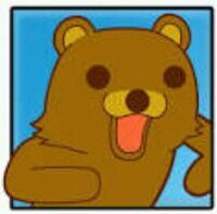このクマのキャラクター名を教えてください。 名前わかる方おりましたら、教えてくださいm(._.)m