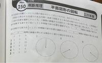 公務員試験 判断推理 平面図形の回転の問題です 以下写真は、問題文です  一秒間に240度、600度、960度というように回転している と解説にあります。  240度は、理解できるのですが、 600度、960度とはどのように考えれば導けるのでしょうか。  また、問題の解き方もご教授お願いできますと幸いです