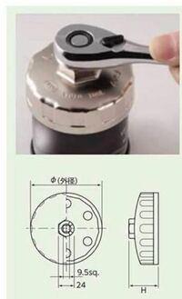 こんにちは 工具についてお尋ねします。  下の写真のオイルフィルタレンチを購入しようと考えているのですが、トルクレンチではなくメガネレンチで使用する際は24mmのものを使用すれば良いのですしょうか?