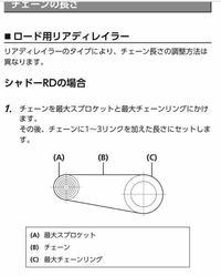 チェーンの長さについて再質問です。 シマノ10511速R7000ですが、   クランク 52×36T スプロケット 11-28T  の場合、リアディレイラーを通さない写真の方法で長さを出すので合っていますでしょうか?